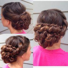 "This hairstyles was based off of Stephanie Brinkerhoff's ""tessa"" hair"