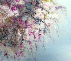 Cascade (Painting) by Reine-Marie PiNCHON