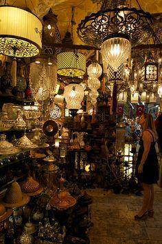 Inside the Grand Bazaar - Istanbul, Turkey