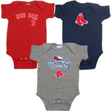 Boston Red Sox Infant Boys 3 Pack Team Set
