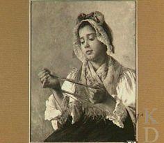 Max Kahn (1857) Jonge vrouw uit de Auvergne  Amsterdam, Instituut Collectie Nederland, inv./cat.nr. E 104