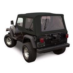 Sierra Offroad 1997 2002 TJ Wrangler Soft Top And Upper Door Skins, Tinted  Windows In Black Denim