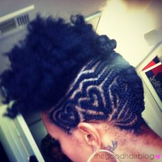 Rod Set Twist Out + Cornrow Chic | Curly Nikki | Natural Hair Styles and Curly Hair Care