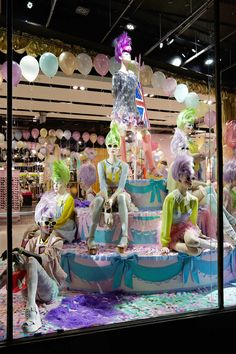 TopShop window display collaboration with Meadham Kirchoff - Oxford St, June 2012