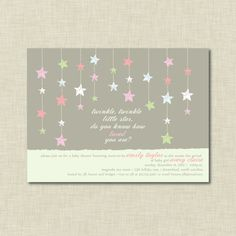 Twinkle Twinkle Little Star Baby Shower Invitation by Classic Chic Designs, $15.00