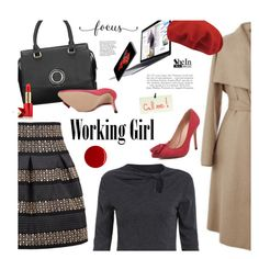 Working girl by ansev on Polyvore featuring polyvore, fashion, style, kangol, Estée Lauder, RGB and shein