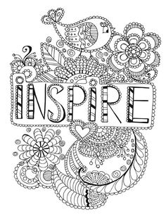 Mandala Coloring Pages Words for Kids Motivational Word Art Coloring Page Inspirational Love - Coloring Pages For Kids - Coloring Pages For Kids Quote Coloring Pages, Coloring Pages Inspirational, Printable Adult Coloring Pages, Mandala Coloring Pages, Coloring For Kids, Coloring Pages For Kids, Coloring Books, Fairy Coloring, Color Quotes