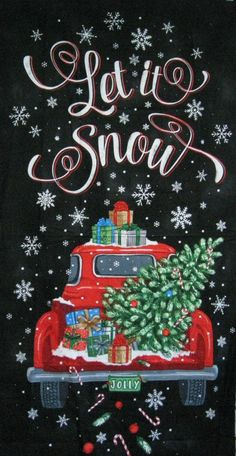 Let it Snow Panel, Red Truck Fabric, 24 , Christmas Tree Truck, TheFabricEdge Christmas Phone Wallpaper, Holiday Wallpaper, Winter Wallpaper, Of Wallpaper, Cute Christmas Backgrounds, Christmas Lockscreen, December Wallpaper, Trendy Wallpaper, Christmas Truck