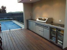 "Outdoor Kitchen Ideas For The Best Summer Yet! - Julie Kelly - Outdoor Kitchen Ideas For The Best Summer Yet! Visit our internet site for even more information on ""outdoor kitchen designs layout patio"". It is actually a great area to read more. Built In Grill, Outdoor Kitchen Design, Outdoor Kitchen Cabinets, Kitchen Pictures, Outdoor Decor, Kitchen Designs Layout, Outdoor Kitchen, Outdoor Kitchen Bars"