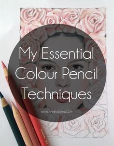 Color Pencil Drawing Tutorial my essential colour pencil techniques More More - Today I'll be sharing a quick guide to MY essential colour pencil te Colored Pencil Tutorial, Colored Pencil Techniques, Colouring Techniques, Drawing Techniques, Watercolor Pencils Techniques, Coloring Books, Coloring Pages, Coloring Tips, Adult Coloring