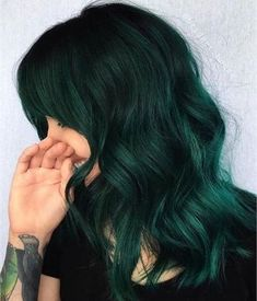 Dark Green Hair Colors and Hairstyles for Women 2020 Dark Green Hair Colors and Hairstyles for Women 2020 Lace Front wig blue and green ombre hair kylie green wig wig green blu – Shebelt mall Gorgeous Hair-Color Styles You Need to Try in 2020 Green Hair Colors, Ombre Hair Color, Cool Hair Color, Green Hair Ombre, Green Wig, Dark Green Hair Dye, Hair Colours, Teal Green, Black And Green Hair