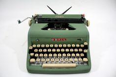 Vintage Royal Quiet De Luxe Typewriter Seafoam by HuntandFound