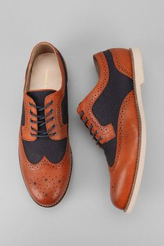 Hawkings McGill Mixed Wingtip Derby  #menswear #mensfashion