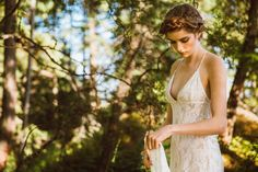 Sexy Backless Lace Gown Wedding Gown Ivory Wedding by elikadesigns, $1200.00