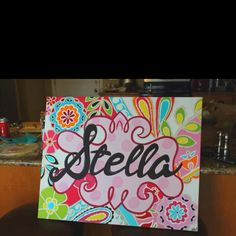 name canvas, this looks like a project for a gift for the grandkids....