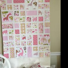 Sharon Hulbert added a photo of their purchase Baby Patchwork Quilt, Baby Girl Quilts, Girls Quilts, Quilt Baby, Quilt Kits, Quilt Blocks, Panda Quilt, Cute Quilts, Children's Quilts