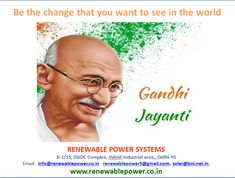 #Renewablepowersystemsdelhi : Be the change that you want to see in the world