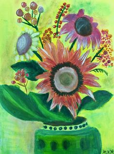 acrylic sunflowers - Google Search