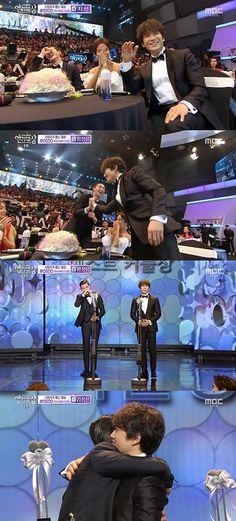 Ji Sung and Park Seo Joon Win Best Couple Award at 2015 MBC Drama Awards