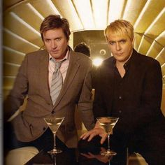 Simon LeBon and Nick Rhodes look amazing in this picture.