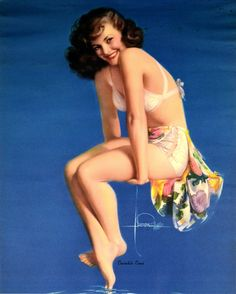 Rolf Armstrong – Twinkle Toes, Original 1950 Pin Up Calendar