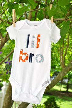 LITTLE BROTHER Sibling Shirt or Onesie Great for New Siblings Family Pictures Sizes 3m-8T. $21.95, via Etsy. #lilbro #lilbrother #littlebrother #siblings #familyphotos #genderreveal #birthannouncement