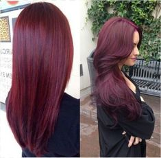 Best Red Hair Color color - Best New Hair Styles Raspberry Hair Color, Black Cherry Hair Color, Deep Red Hair Color, Cherry Brown, Black Ombre, Pelo Color Vino, Wine Hair, Hair Dos, Gorgeous Hair