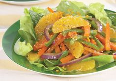 Peppers and Orange Spinach Salad   Recipes   Mrs. Dash