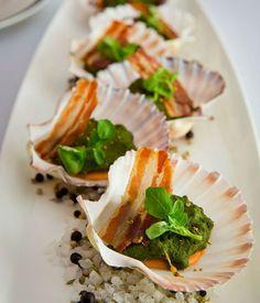 Guy Grossi's scallops Rockefeller recipe - Gourmet Traveller