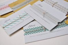 Washi tape business card or index card