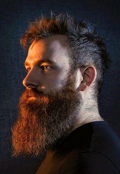 Modern Beard Styles, Long Beard Styles, Beard Fade, Red Beard, Great Beards, Awesome Beards, New Beard Style, Moustaches, Short Beard