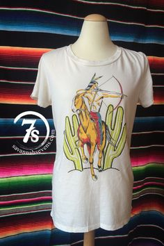 The Seneca – Indian and cactus graphic tee from Savannah Sevens Western Chic