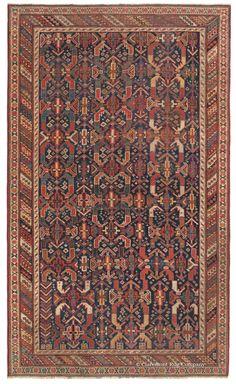 19th Century Afshar Antique Persian Tribal Carpet
