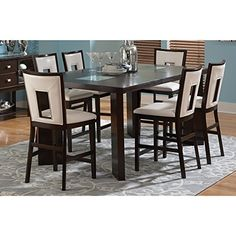 Greyson Living Domino Counter-height Espresso Dining Set by 7-Piece Sets