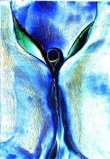 Enkaustik Atelier: Blauer Engel