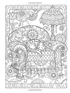 Dover Publications Creative Haven Creative Cats Coloring Book artwork by Marjorie Sarnat