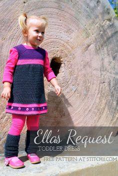 Crochet Pattern: Ella's Request Toddler Dress