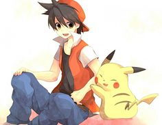Red and Pika - red-pokemon Photo
