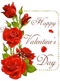 Happy Valentine's Day With Roses