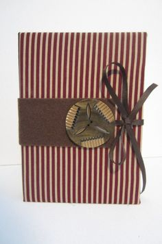 Burgundy and Tan Stripe Pattern with Large by TheElegantLady, $15.00