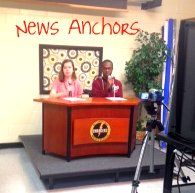 I am really proud of our school news show. I started out without a clue, but things have turned out nicely after four years of winging it. Elementary School Library, School Tv, After School Club, School Clubs, Middle School Teachers, Elementary Schools, School Libraries, Morning Announcements, Survival Kit For Teachers