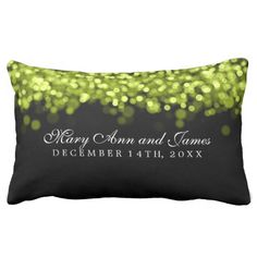 Elegant Wedding Favor Green Lights Pillows