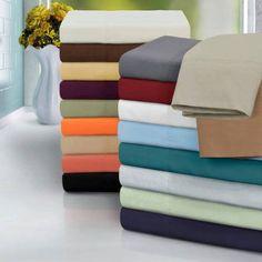 Superior 1500 Series Brushed Microfiber Soft and Wrinkle Resistant Solid Sheet Set, Blue