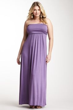 Strapless Maxi Dress.  Casual, yet classy=perfect for Invite.