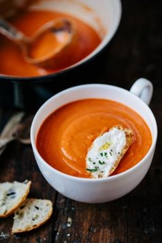 8 Delicious Soup Recipes I'm so not a foodie but tomato soup & grilled cheese is my idea of heaven!