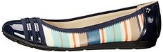 Anne Klein Sport Women's Atworth Ballet Flat, Blue, 6.5 M US. AK sport flexible rubber bottoms allow for a flexible fit that can bend up to 90 degrees. Look fabulous while being comfortable when you wear your Anne Klein atworth flats. Easy slip-on construction. Cushioned sport insole for added comfort.