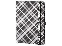 Originální zápisník Lanybook s károvaným motivem v černobílém provedení, Lanyband v černé barvě s bílým potiskem. Infinity, Unisex, Infinite