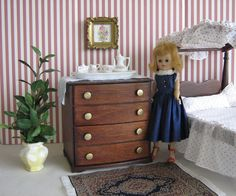 VTG Doll Furniture   Hall's Dresser In Mountain by TheToyBox, $75.00