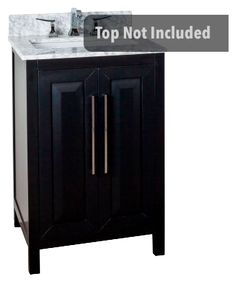Cade Contempo 24'' vanity with black finish and clean, leading-edge design VAN101-24
