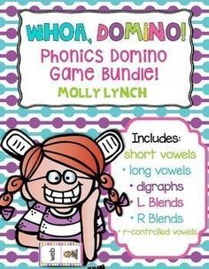 Buy the Whoa Domino Bundle and save!Whoa Dominoes are a great way to practice important phonics skills! This game will help your students master phonics sounds by matching words with pictures.  To use, simply print, laminate and let your kids play! These domino games can be played from 1-4 players.